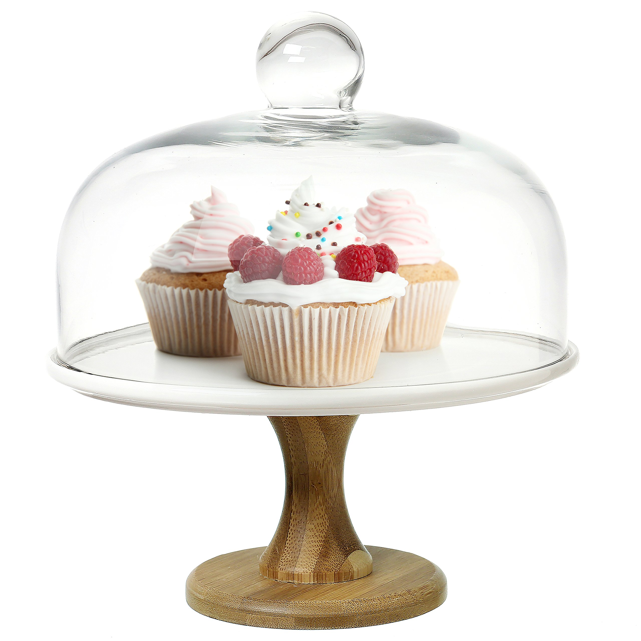 stand serving domed food and kitchen lid home multifunctional beaded dome ideas glass large cake bowl edge pedestal saladbowl amazoncouk punch with