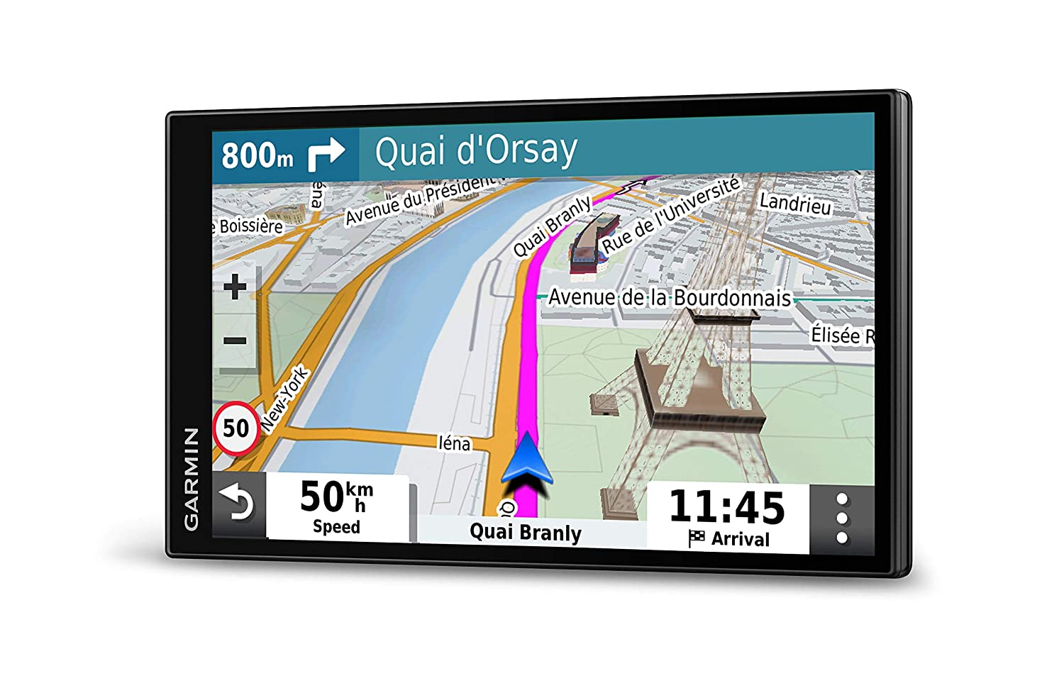 Map Updates for UK and Ireland Live Traffic Bluetooth Hands-free Calling and Driver Alerts Garmin DriveSmart 55 MT-S 5.5 Inch Sat Nav with Edge to Edge Display