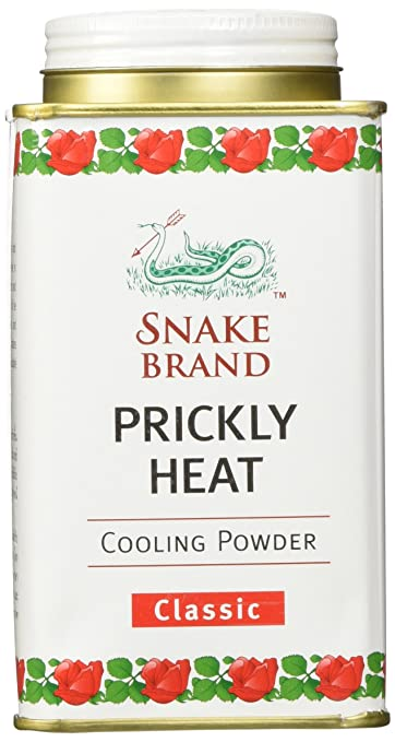 Prickly Heat Powder Snake Brand Classic Scent (150 gram) - Prickly heat,  cool powder, heat rash, heat