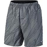 "Nike Men's Dri-Fit Flex 7"" Distance Running Shorts-Cool Grey/Black-Large"