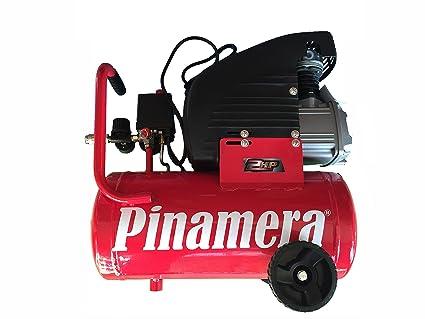 Compresor De Aire PINAMERA 2 Hp 24 Lt 8 Bar (24 Litros) Envío GRATIS