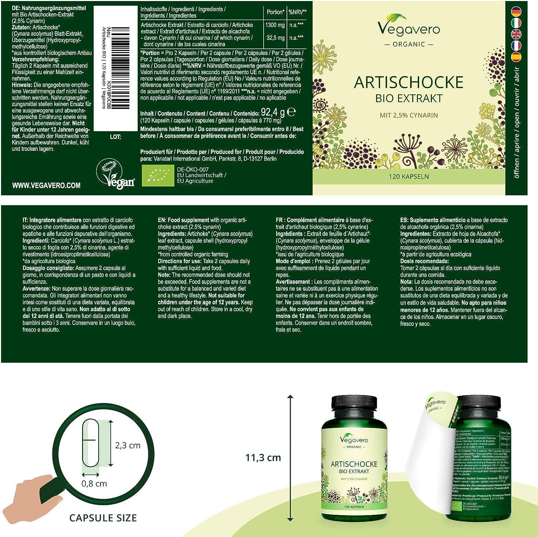 Alcachofa BIO Vegavero®   La Dosis Más Alta: 13.000 mg ...