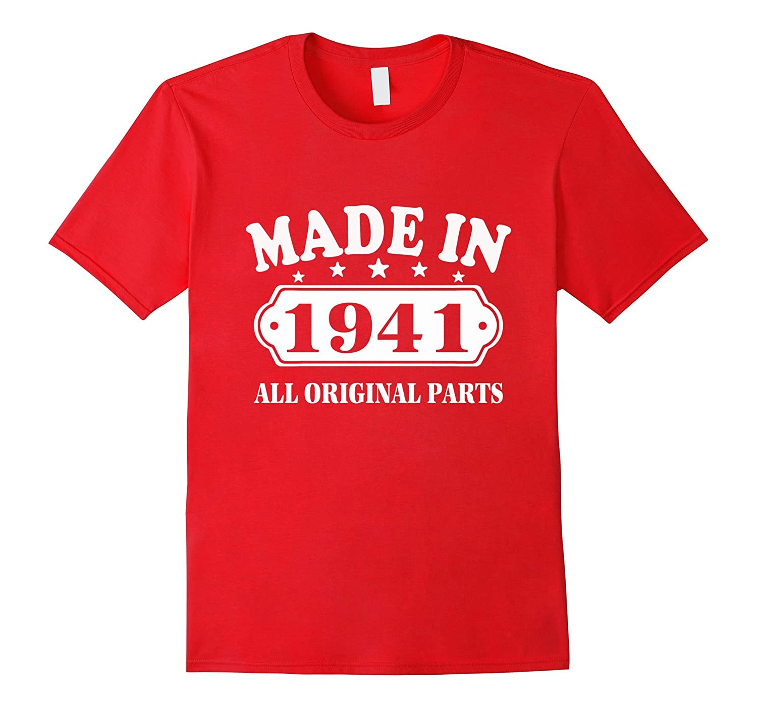 76th Birthday Vintage Made in 1941 Gift ideas Man T shirt-PL