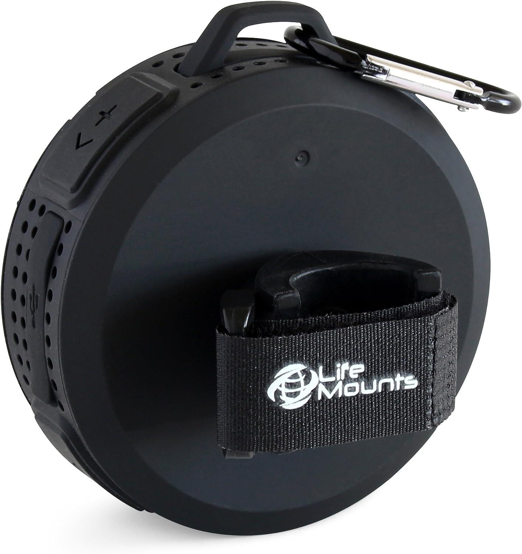 Life Mounts Weatherproof Bluetooth Boat Speaker with Patented Flex Mount Black