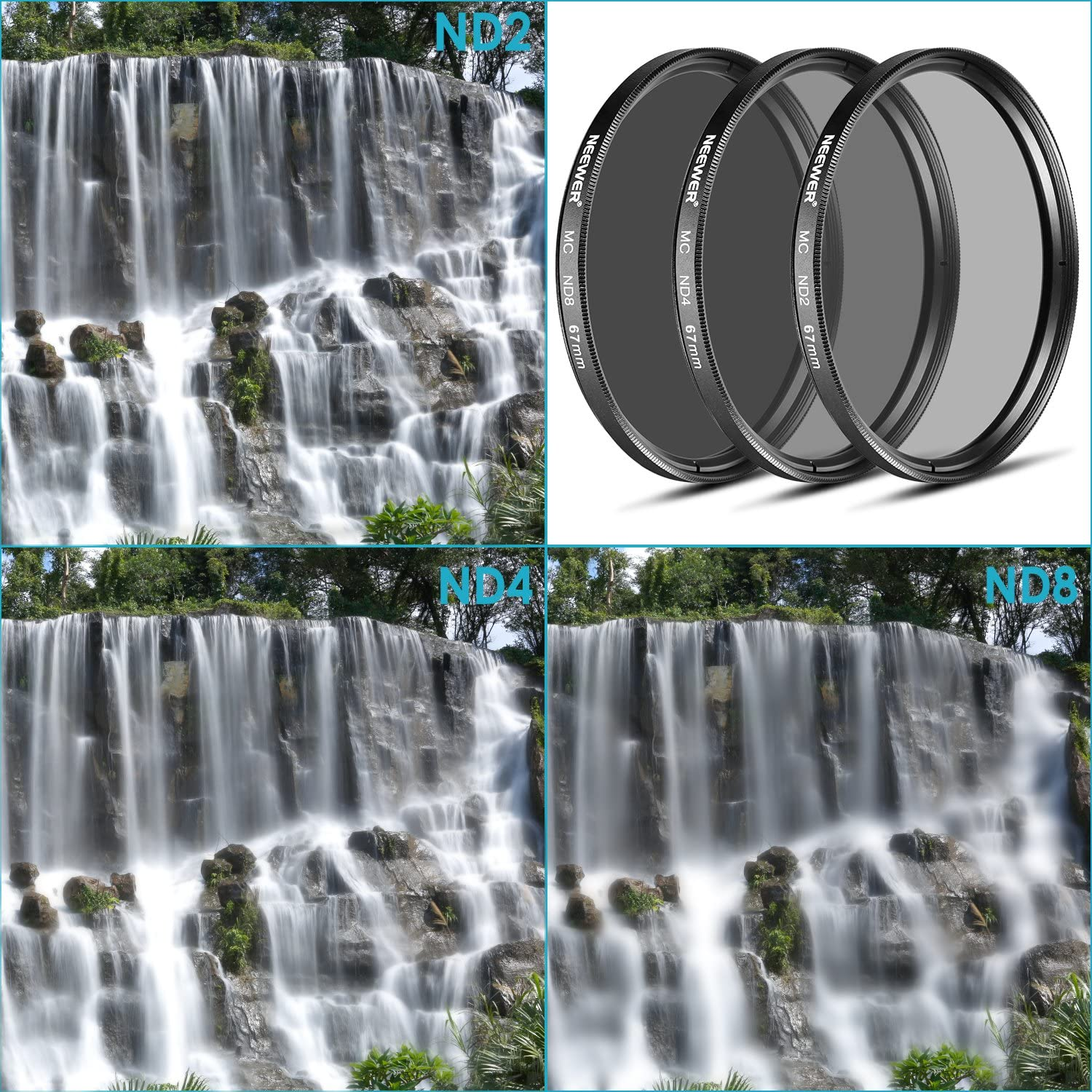 for Olympus PEN E-PL2 E-PL3 E-PL5 E-PL6,OM-D E-M10 Compact Cameras w//14-42mm f//3.5-5.6 II Zoom Lens Neewer 37MM ND Filter Set ND2 ND4 ND8