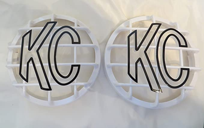 NOT for Apollo KC HiLiTES 6 Grill Guard KC Light Covers in Orange Snake Skin Set of 2