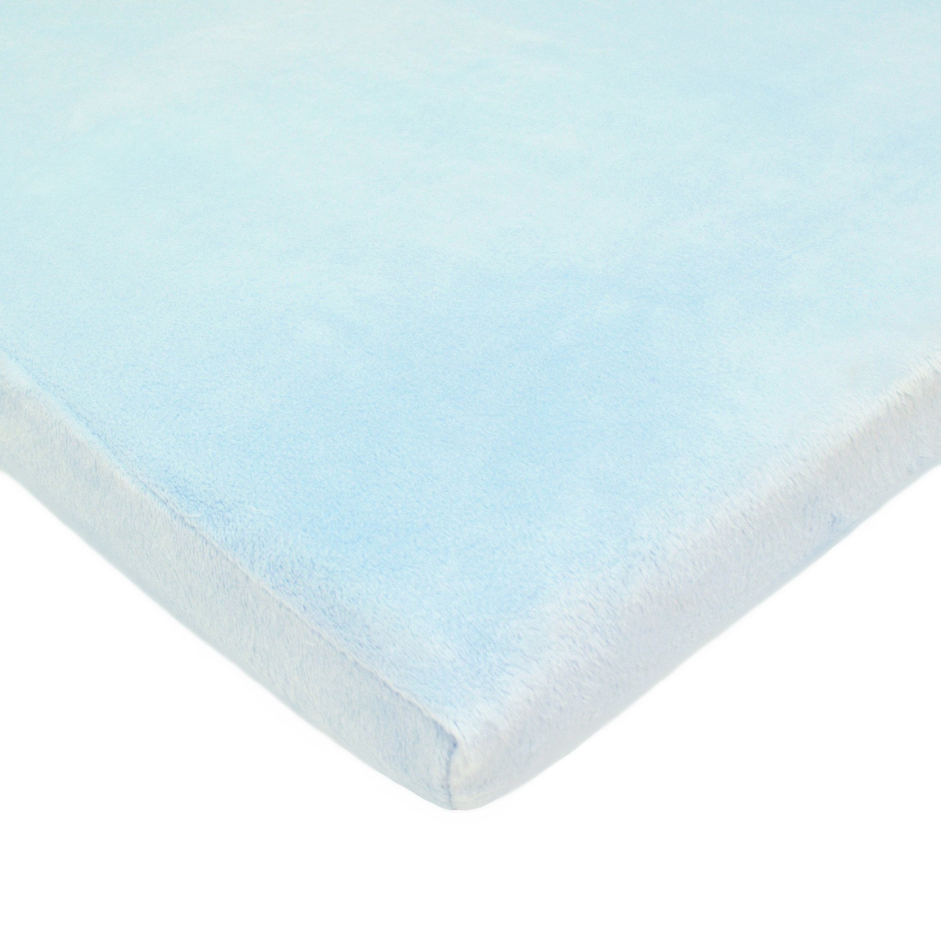 TL Care Heavenly Soft Chenille Fitted Cradle Sheet, Blue