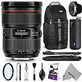 Canon EF 24-70mm f/2.8L II USM Standard Zoom Lens w/ Essential Bundle - Includes: Camera Sling Backpack, Monopod, Altura Photo Ultra Slim UV, Camera Cleaning Set