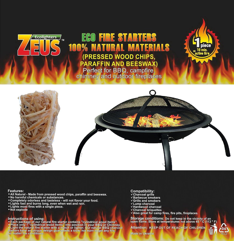 amazon com natural fire starter charcoal starter chimney