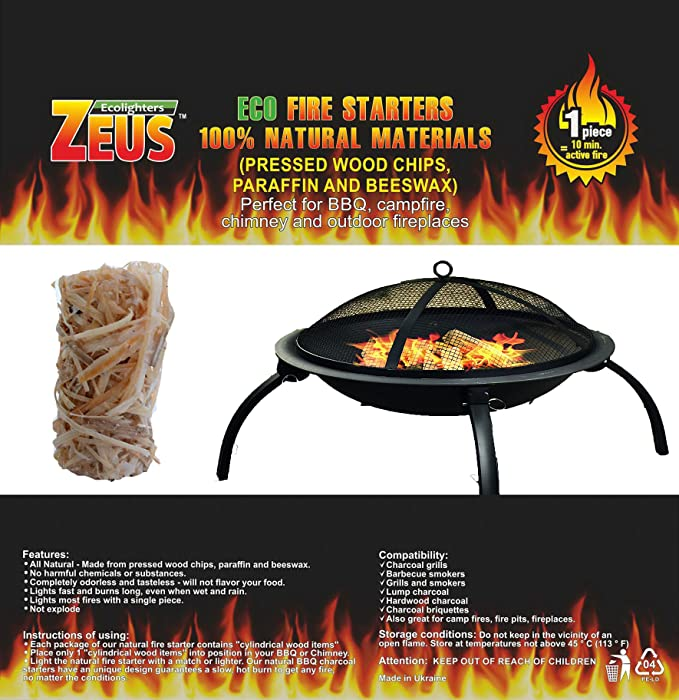 Amazon Gift4soul Bbq Fire Starter Natural Charcoal Starters