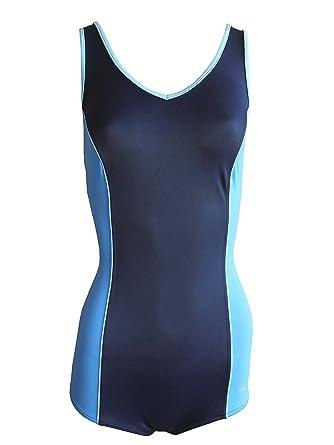 188deb8cbeb045 Solar Badeanzug mit Bein blau/türkis, Gr. 38 B-Cup: Amazon.de ...