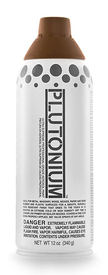 Plutonium Paint PLUTON-30340 Ultra Supreme Professional Aerosol Paint, 12-Ounce, Earth