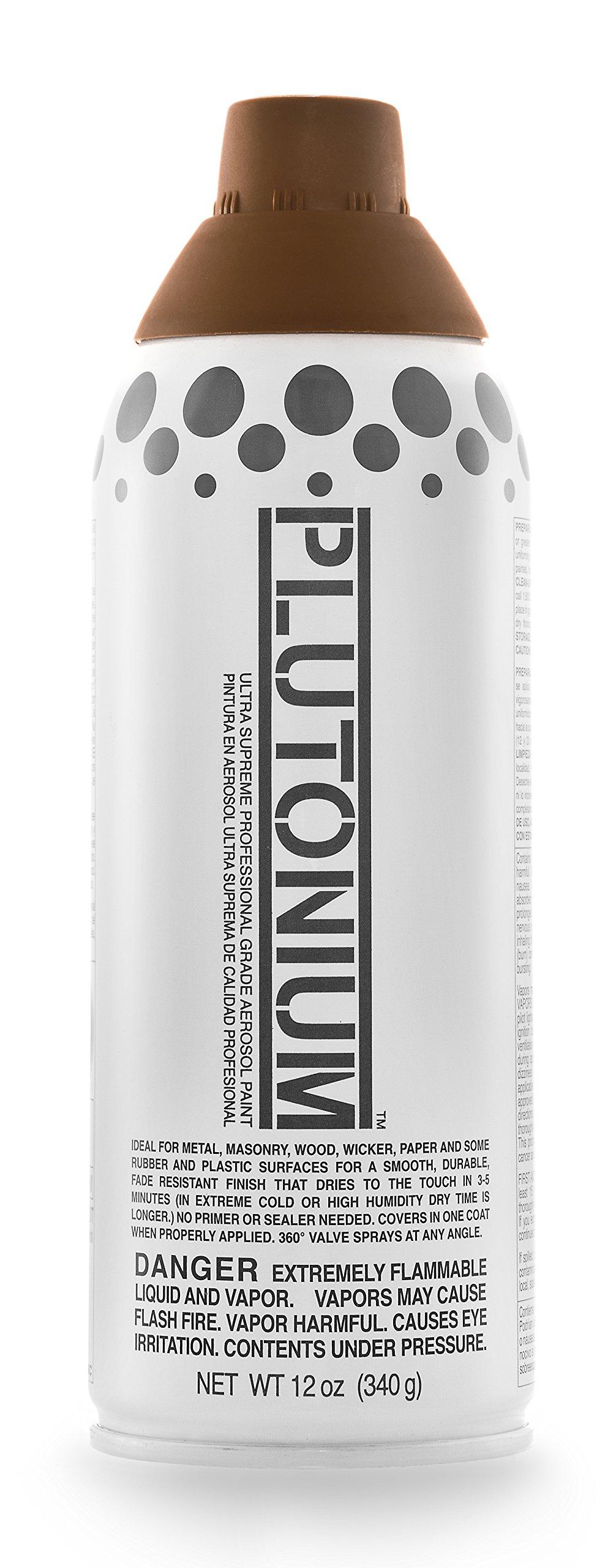 Plutonium Paint PLUTON-30300 Ultra Supreme Professional Aerosol Paint, 12-Ounce, Mud Pie