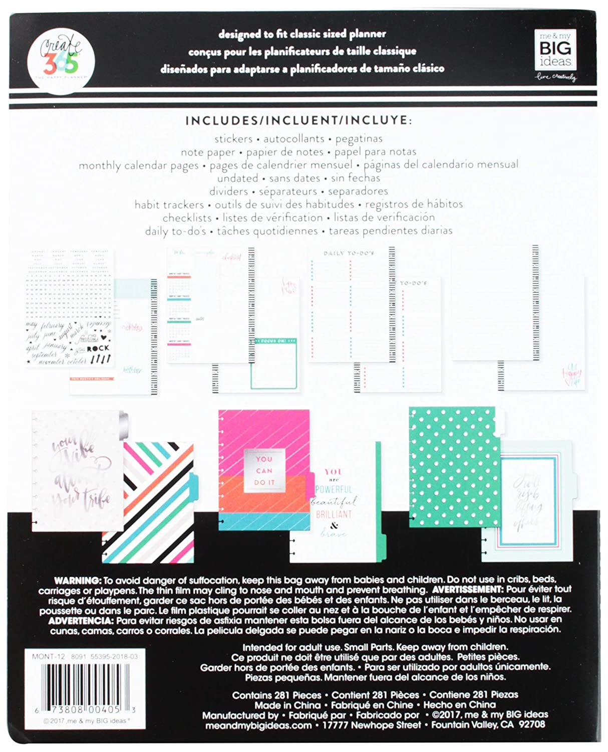 Create 365 MONT-12 Your Your Vibe 6-Month Undated Medium Planner Multicolor