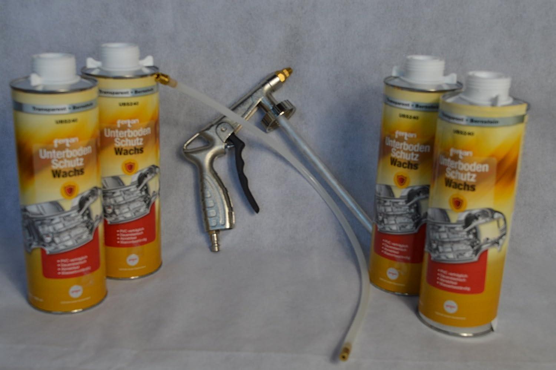 Set Fertan Druckluftpistole Und 4 X Ubs240 1l Unterbodenschutzwachs Pkw Lkw Unterboden Schutzwachs Sport Freizeit