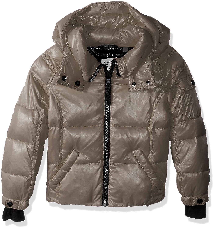 Platinum 10 S13 Girl's Mogul Gloss Down Puffer with Detachable Hood Down Coat