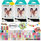 Polaroid Instant Film (60 Sheets) and Picture Frame Accessory Bundle - Designed for use with Fujifilm Instax Mini and PIC 300 Cameras PIF300