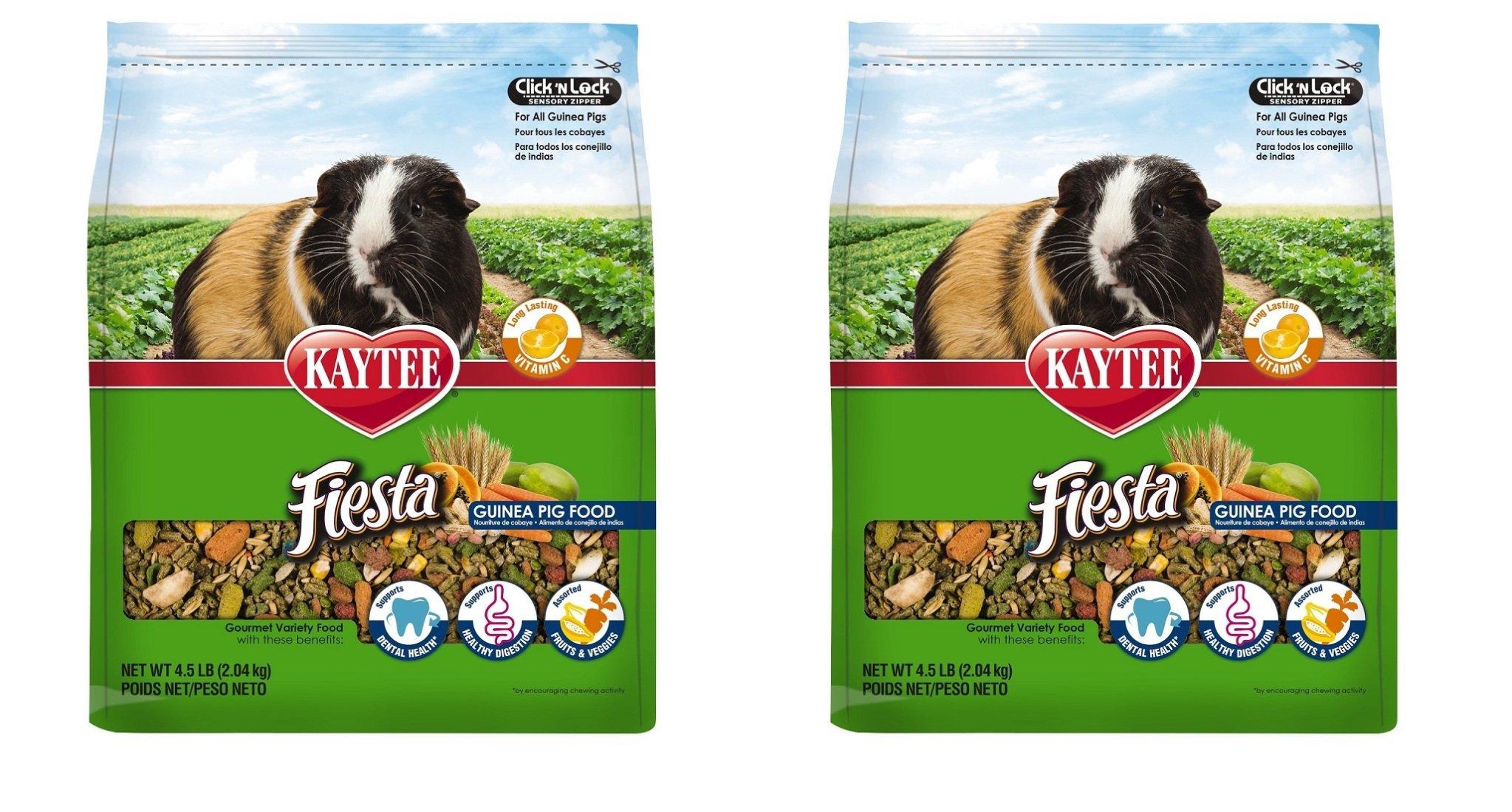 Kaytee Fiesta Guinea Pig Food, PicRGr 2 Pack (4.5-Pound)