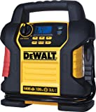 DEWALT DXAEJ14 Digital Portable Power Station Jump Starter: 1400 Peak/700 Instant Amps, 120 PSI Digital Air Compressor, 3.1A USB Ports, Battery Clamps