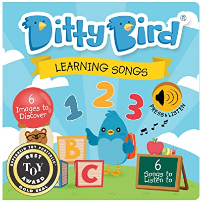 DITTY BIRD Baby Sound Book: Our Learning Songs Musical Book for Babies is The Perfect Toys for 1 Year Old boy and 1 Year Old Girl Gifts . Interactive ABC Music Book for Toddlers. Award-Winning!: Toys & Games
