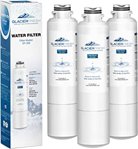 Samsung Refrigerator Water Filter Replacement DA29-00020B HAF-CIN/EXP For French Door Fridge Kitchen By GLACIER FRESH (3 PACK)