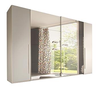 Kleiderschrank weiß spiegel  Stella Trading Match 4-türiger Kleiderschrank, Holz, weiß/spiegel ...