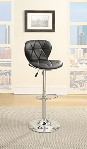 Poundex Bobkona Riggan Set of Two Adjustable PU bar Stool