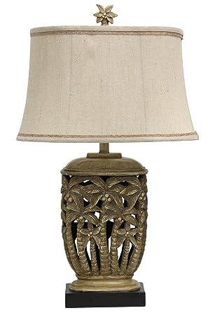 Amazon.com: Delacora SC-L310429 Tortola - Lámpara de mesa ...