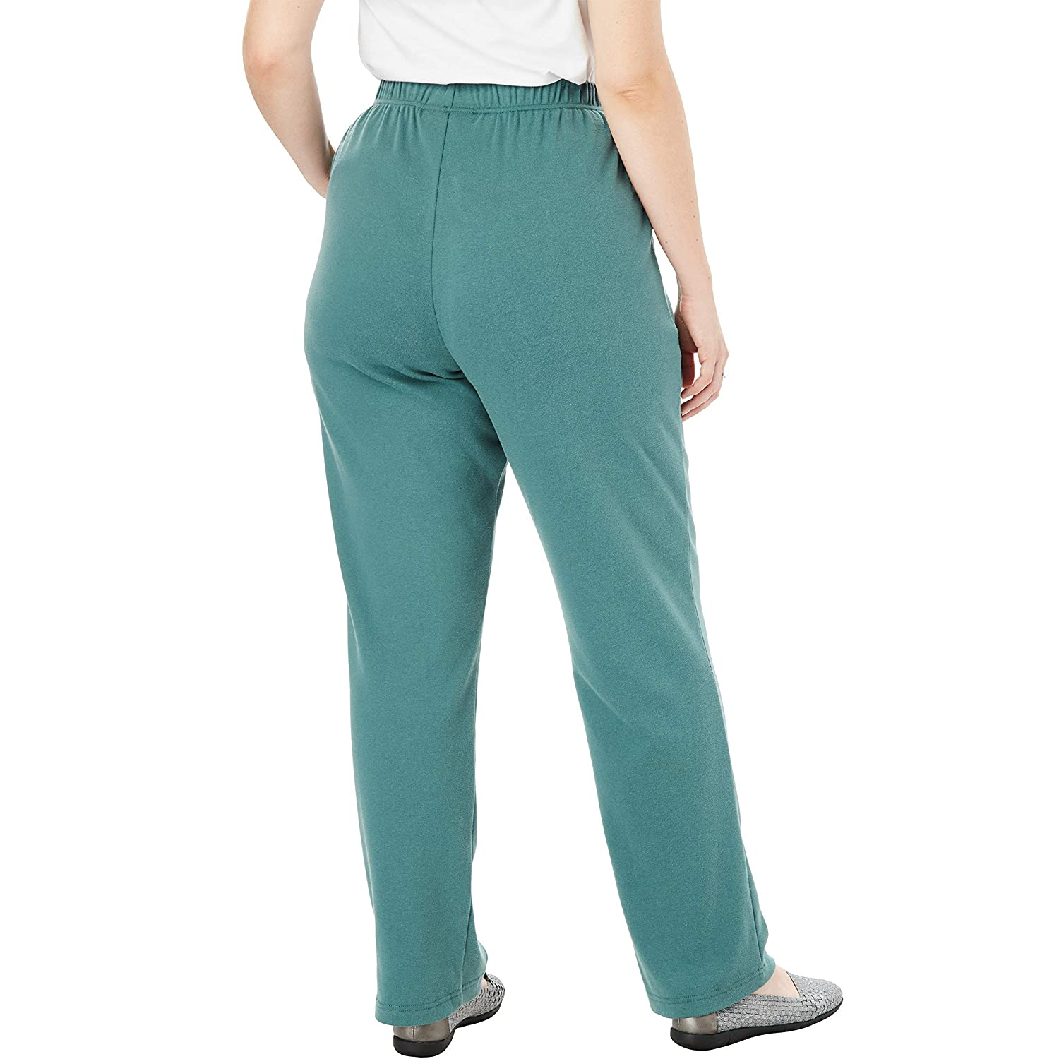 6adb9fede6 Woman Within Women's Plus Size 7-Day Knit Straight Leg Pant at Amazon  Women's Clothing store: