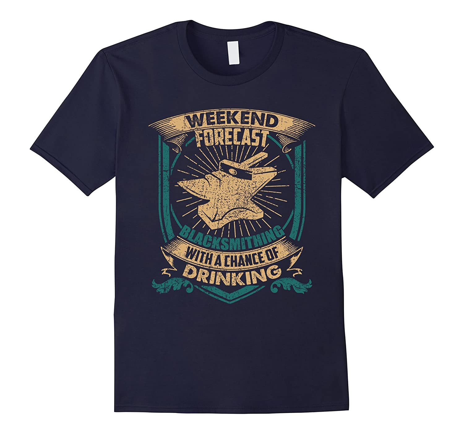 Blacksmith T shirt - Weekend Forecast Blacksmithing Shirts-TH