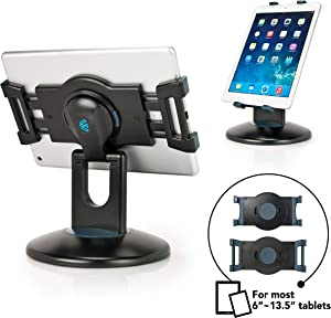 EHO Retail Kiosk iPad Stand, 360° Rotating Commercial Tablet Stand, 6-13.5