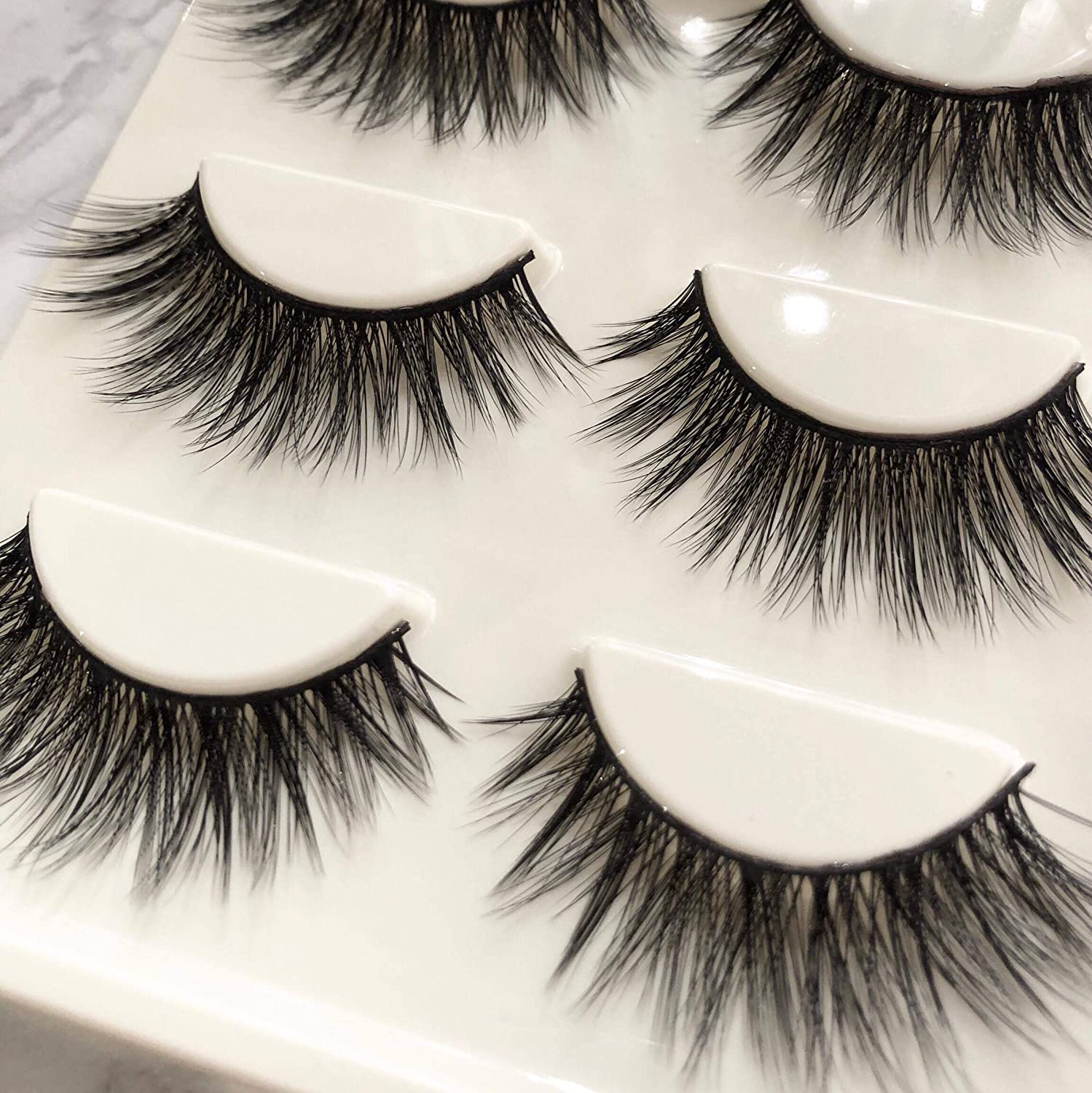 0c7dc8ce89d LUXIE LASHES 3D Luxury Fluffy Faux Mink Natural Strip Fake Long Eyelashes  Multipack - 3 Pairs Pack ...