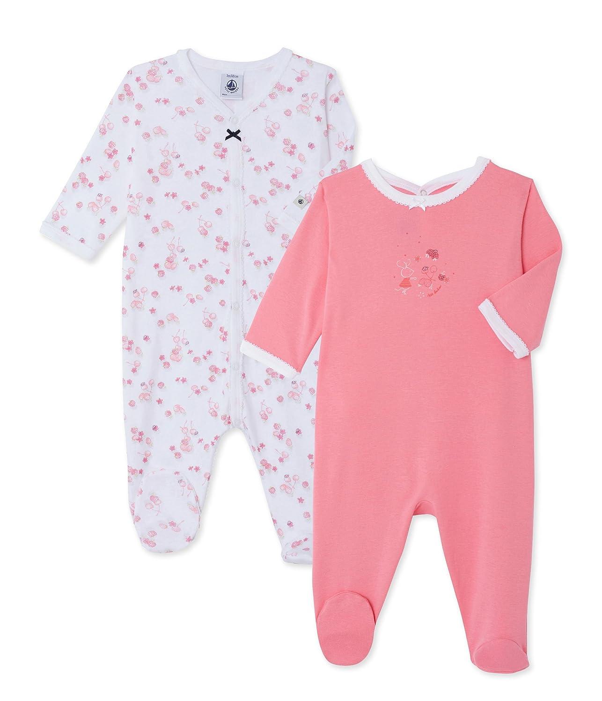 Petit Bateau Conjuntos de Pijama para Bebé s (Pack de 2) Conjuntos de Pijama para Bebés Lot de 2 Multicolor (Special Lot 00) 12m/74cm 22170