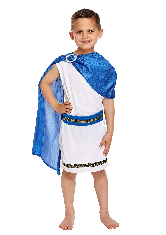 Kids Caesar Roman Emperor King Toga Ancient Greek Book Week Fancy Dress Costume