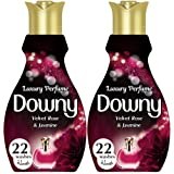 Downy Luxury Perfume Collection Concentrate Fabric Softener Feel Elegant 880ml, Dual Pack