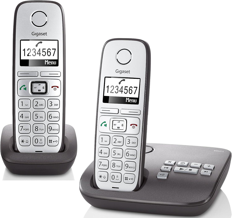 Gigaset E310 Duo Analog/DECT telephone Antracita Identificador de llamadas: Amazon.es: Electrónica