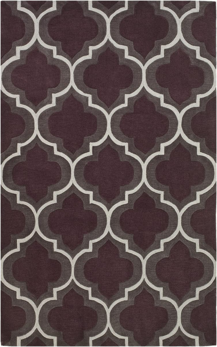 Dalyn Rugs Infinity IF 3 Area Rug, 3-Feet 6-Inch by 5-Feet 6-Inch, Plum