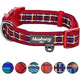 Blueberry Pet Soft & Comfy Scottish Plaid Pattern Dog Collar