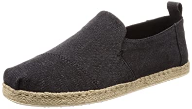 830a8deb735 TOMS Men s Deconstructed Alpargata Rope Suede Espadrille Black Washed Canvas  11 D(M) US