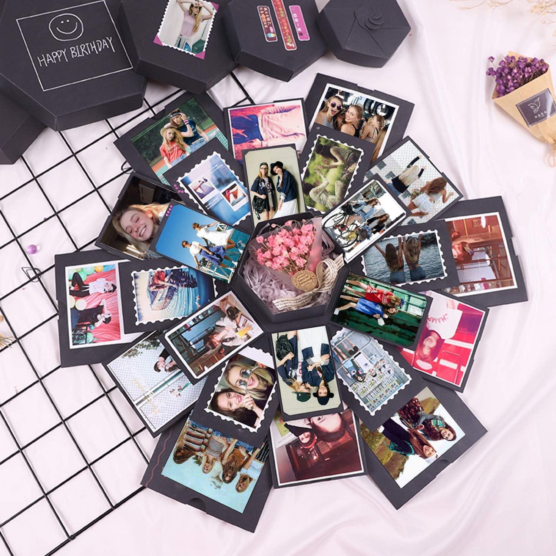 Creativo Fai da Te di Scrapbook Album di Foto HebyTinco Scatola di Esplosione Creativa Esplosione Regalo Scatola Amore Memoria per Il Compleanno di San Valentino Anniversary Wedding