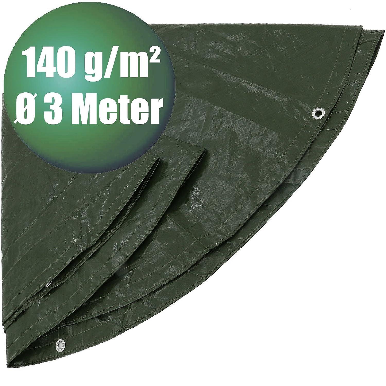 /Ø 3 m 140 g//m/² Abdeckplanen rund /Ø 3 m 140 g//m/² gr/ün