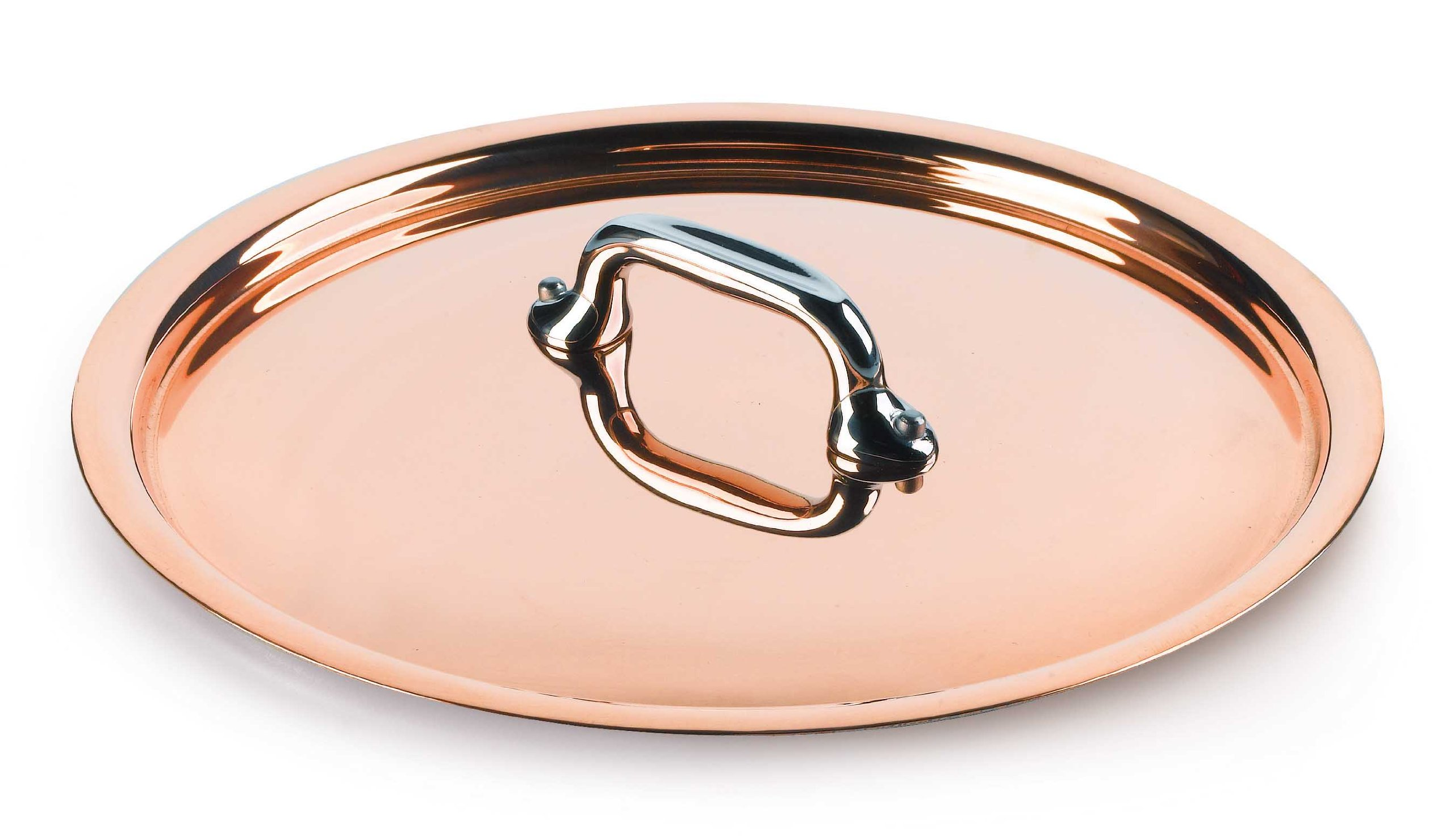 Mauviel Made In France M'Heritage Copper 150s 6118.28 11-Inch Lid with Cast Stainless Steel Handle