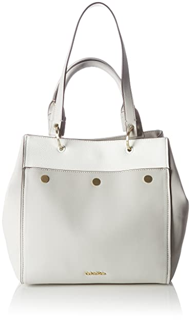Calvin Klein - Le4 Large Tote Cb, Bolsos totes Mujer, Beige (Surplus)