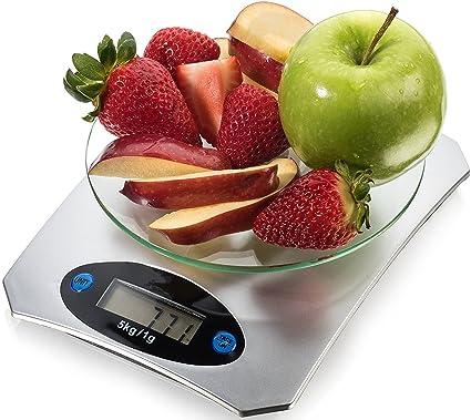 Última Báscula de cocina para comer – Peso restricciones 5 kg – Báscula electrónica de Digital