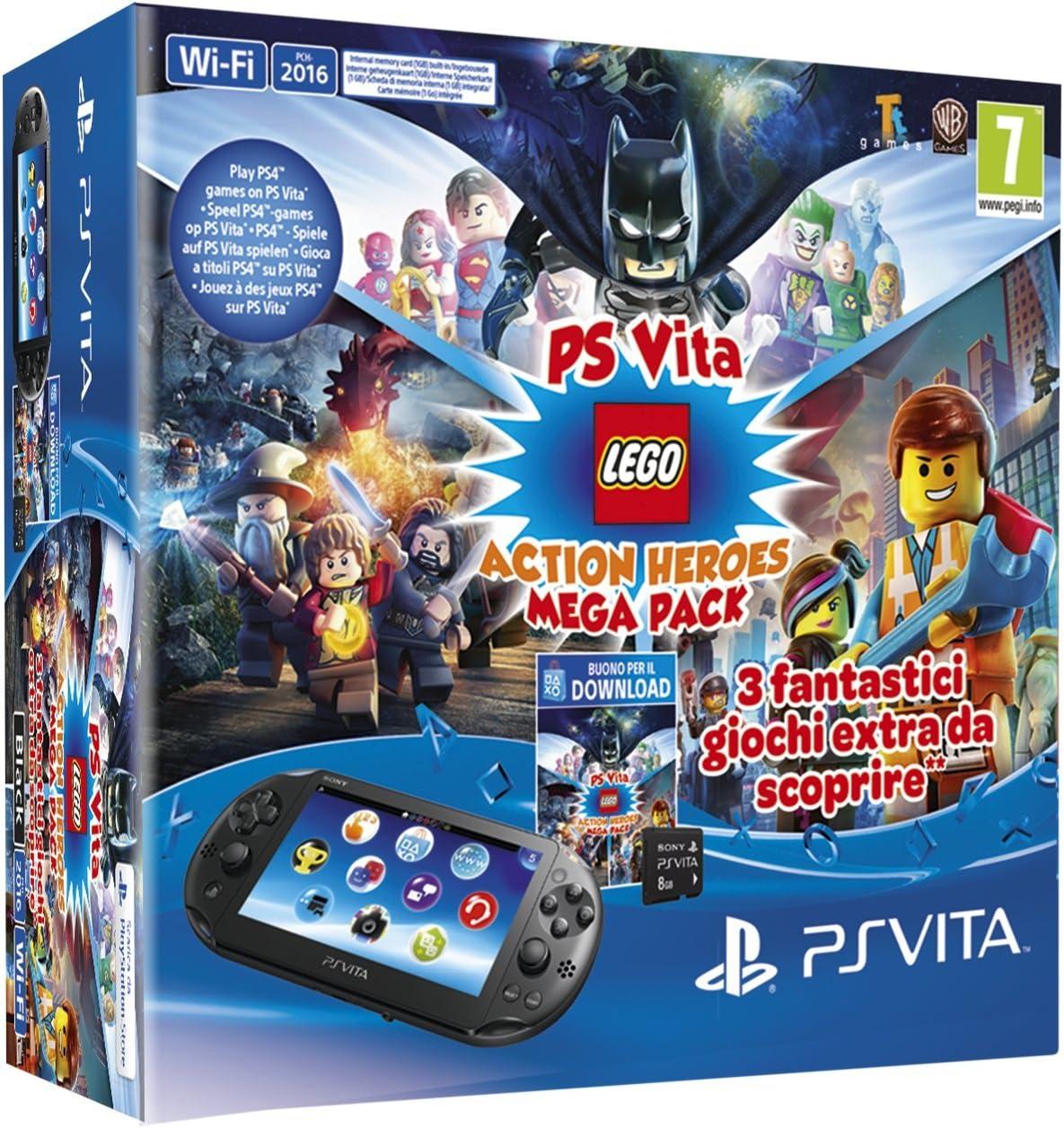 Playstation Vita 2016 + Mega Pack Lego Heroes + Mc 8GB [Bundle ...