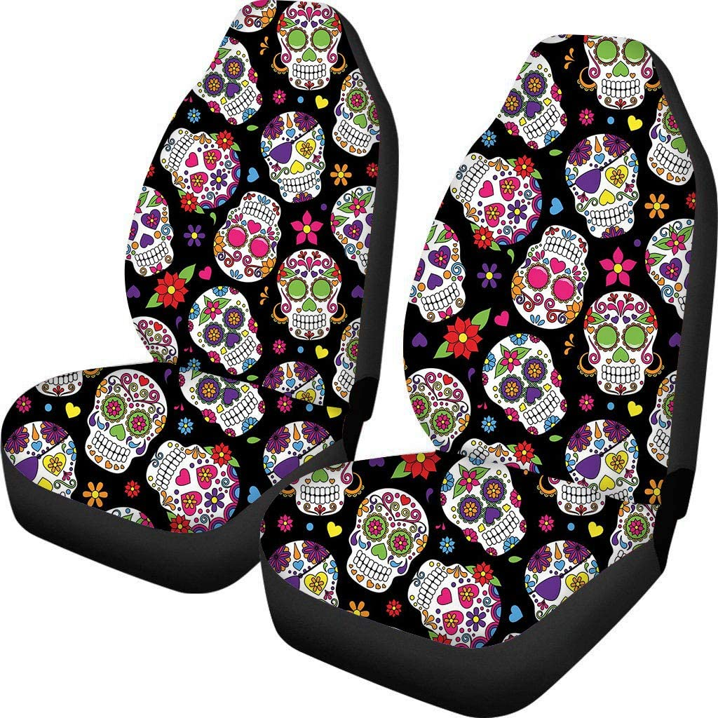 Sedan Baboben Front Seat Covers 2 PCS Sloth Print Vehicle Seat Protector Car Mat Covers Fit Most Cars Van SUV