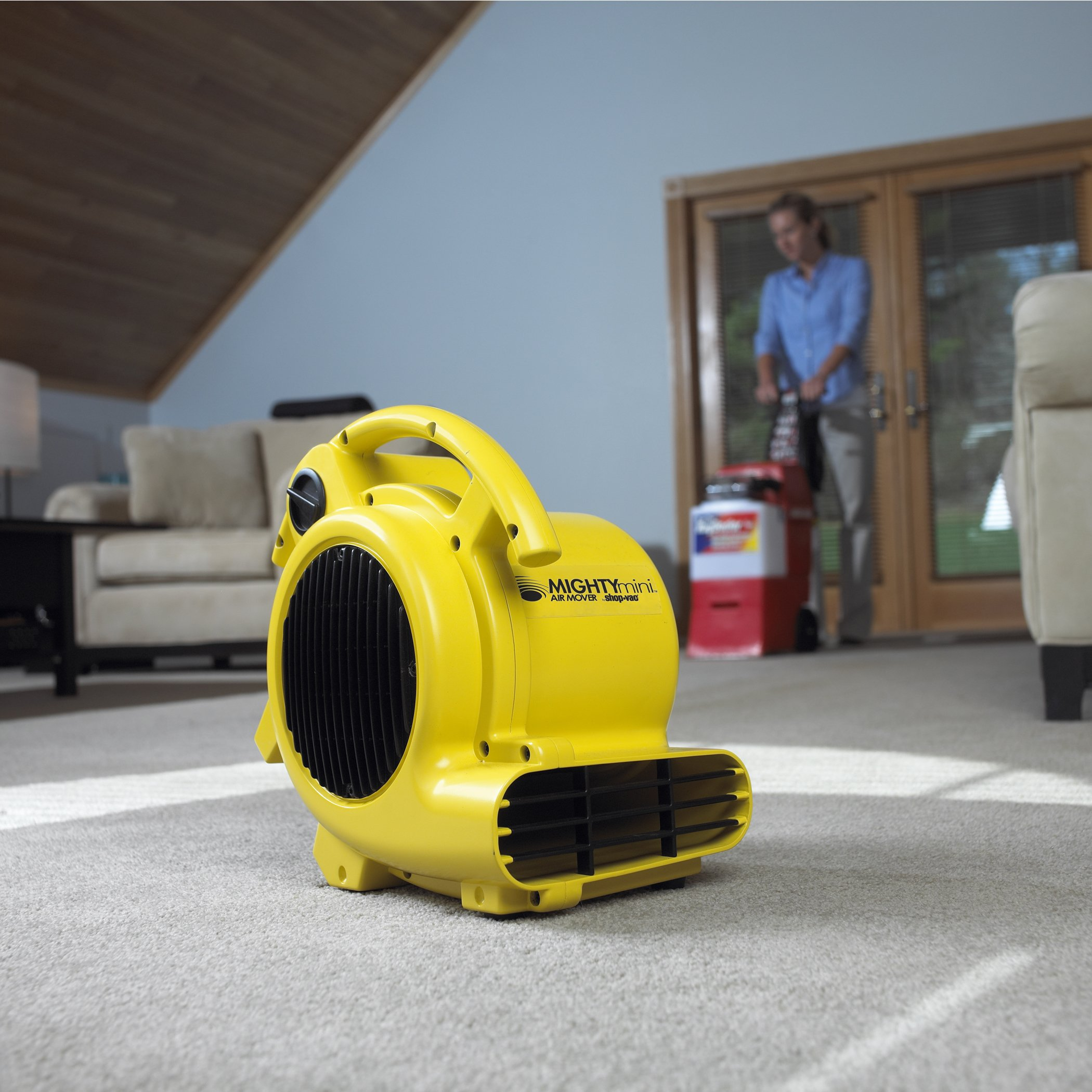 Shop-Air by Shop-Vac 1032000 Mighty Mini Air Mover 3-Speed 3-Position Dryer for Wet Carpets, Floors, Walls & Ceilings, 500 CFM Motor by Shop-Vac