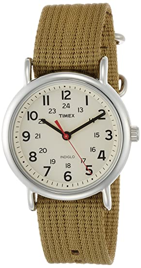 amazon com timex unisex t2n651 weekender olive nylon slip thru amazon com timex unisex t2n651 weekender olive nylon slip thru strap watch timex watches