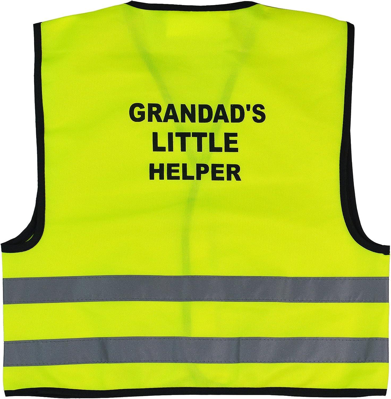 Unisex Kids High Visibility Vest Hi Vis Waistcoat with Grandads Little Helper Writing at Back