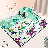 Baby Play mat, playmat,Baby mat Folding Extra Large Thick Foam Crawling playmats Reversible Waterproof Portable playmat…
